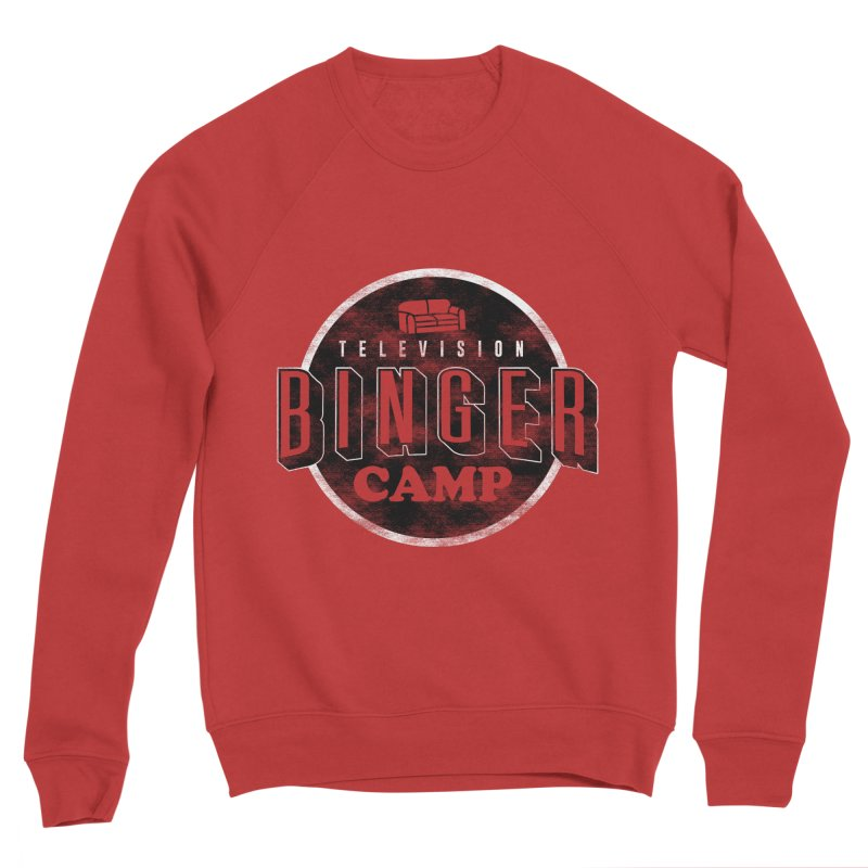 TV BINGER CAMP Women's Sponge Fleece Sweatshirt by Daniel Stevens's Artist Shop