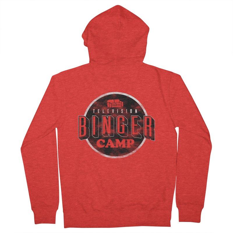 TV Binger Camp Men's Zip-Up Hoody by Daniel Stevens's Artist Shop