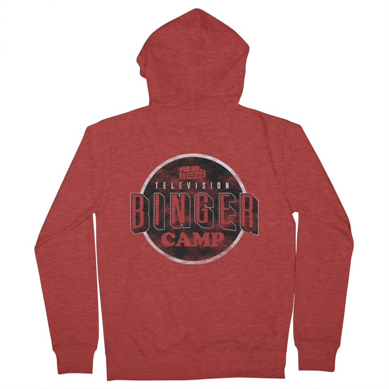 TV BINGER CAMP Men's French Terry Zip-Up Hoody by Daniel Stevens's Artist Shop