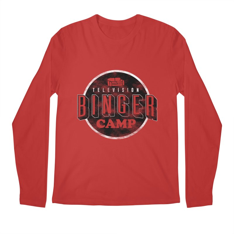 TV BINGER CAMP Men's Regular Longsleeve T-Shirt by Daniel Stevens's Artist Shop