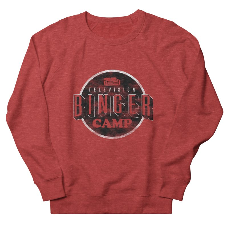 TV BINGER CAMP Women's French Terry Sweatshirt by Daniel Stevens's Artist Shop