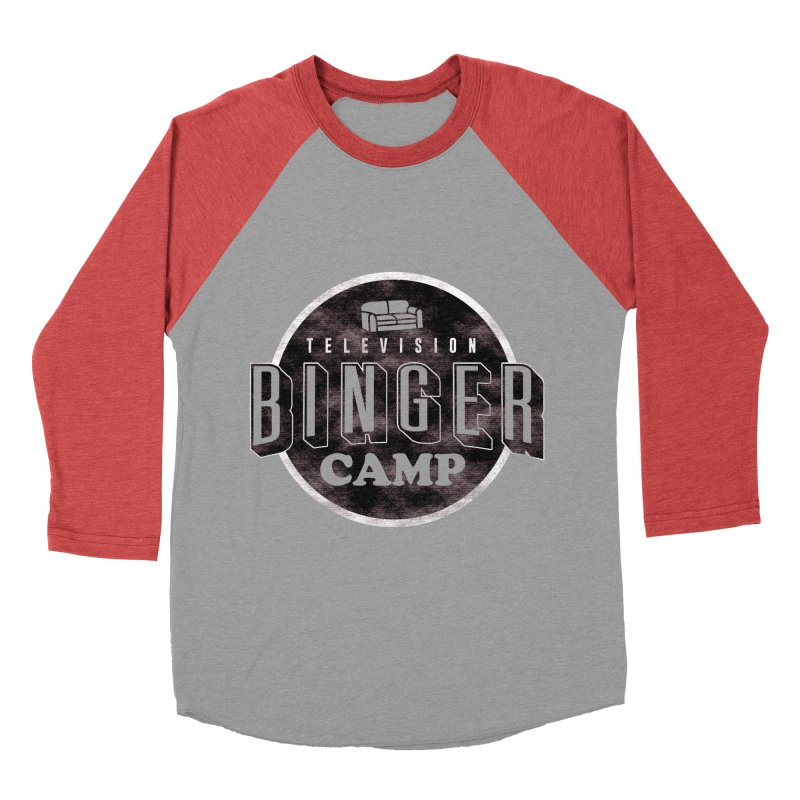 TV BINGER CAMP Men's Baseball Triblend Longsleeve T-Shirt by Daniel Stevens's Artist Shop