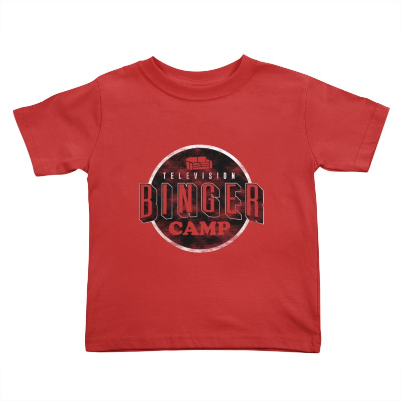 TV BINGER CAMP Kids Toddler T-Shirt by danielstevens's Artist Shop