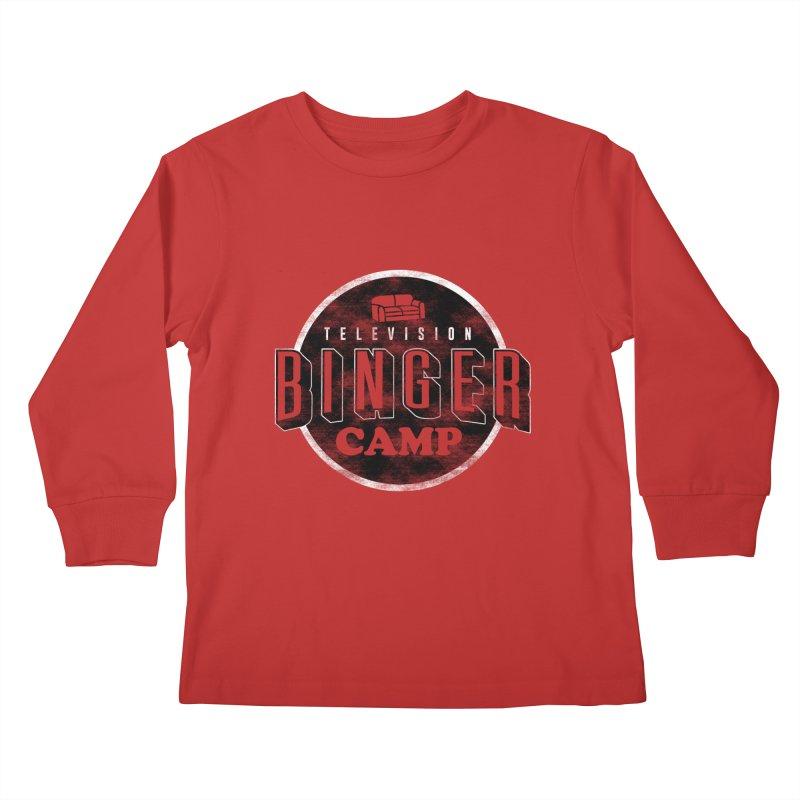 TV BINGER CAMP Kids Longsleeve T-Shirt by Daniel Stevens's Artist Shop