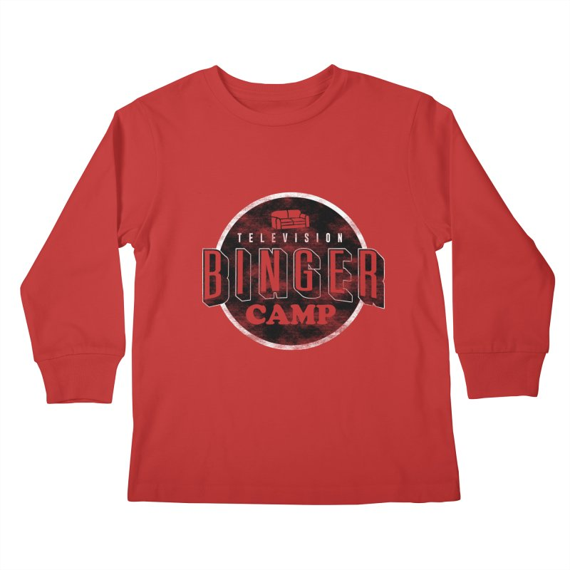 TV BINGER CAMP Kids Longsleeve T-Shirt by danielstevens's Artist Shop