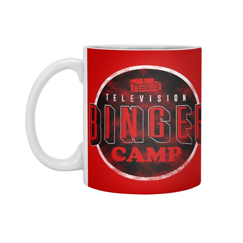 TV BINGER CAMP Accessories Standard Mug by Daniel Stevens's Artist Shop