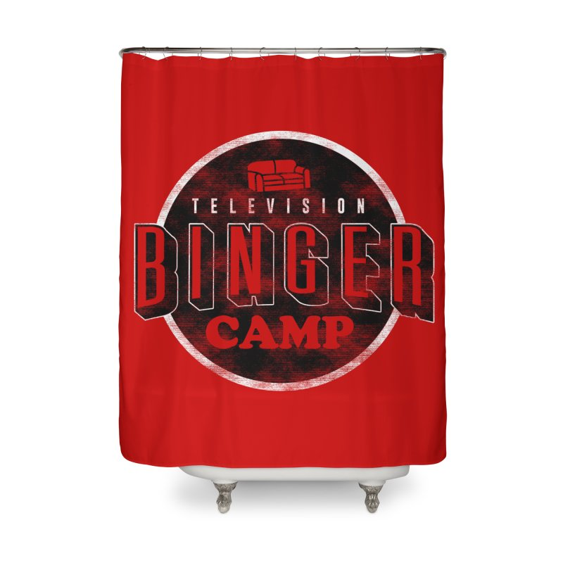 TV Binger Camp Home Shower Curtain by Daniel Stevens's Artist Shop