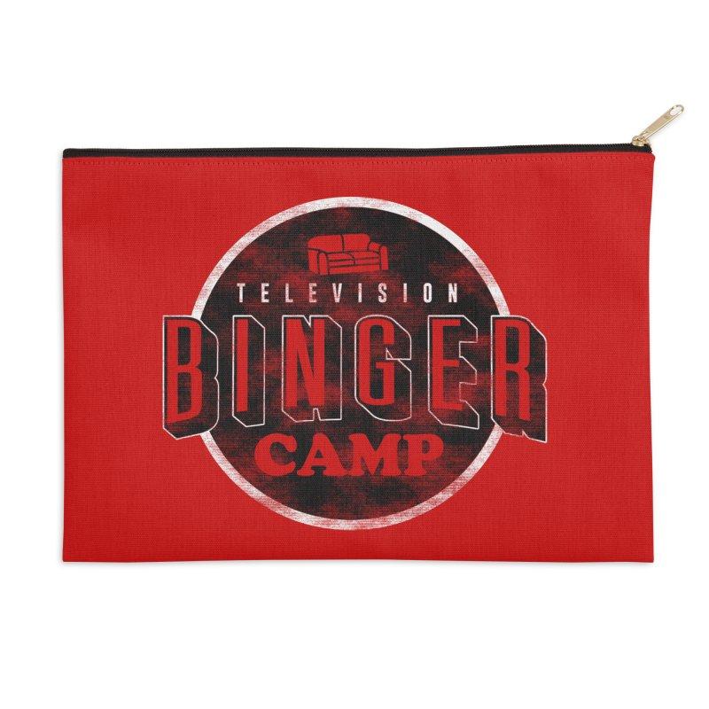 TV Binger Camp Accessories Zip Pouch by Daniel Stevens's Artist Shop