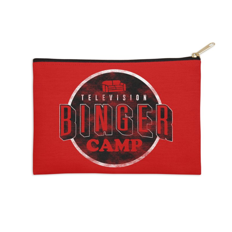 TV Binger Camp Accessories Zip Pouch by Daniel Stevens's Artist Shop
