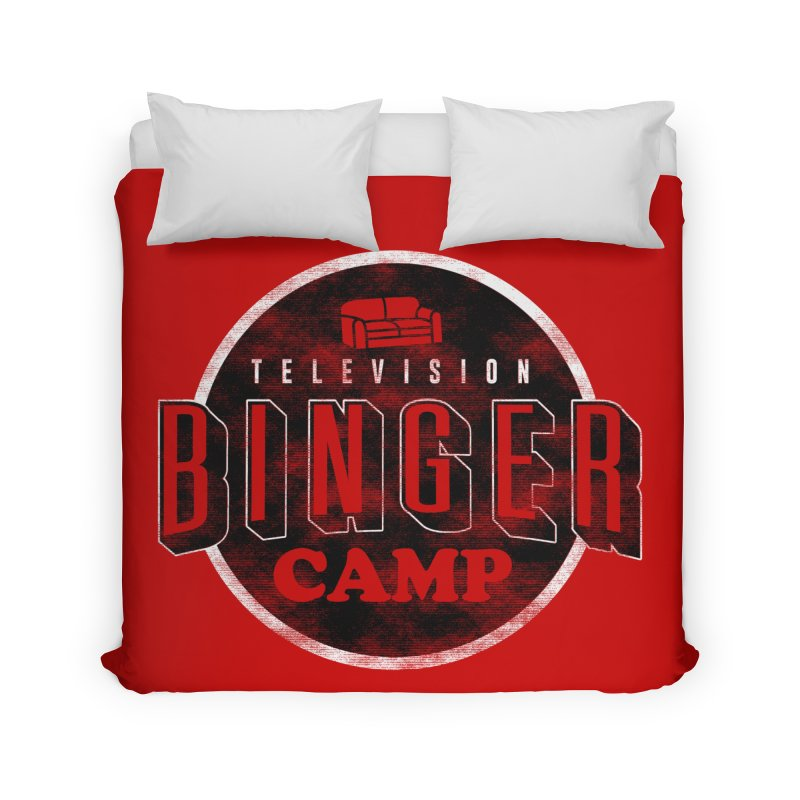 TV BINGER CAMP Home Duvet by Daniel Stevens's Artist Shop