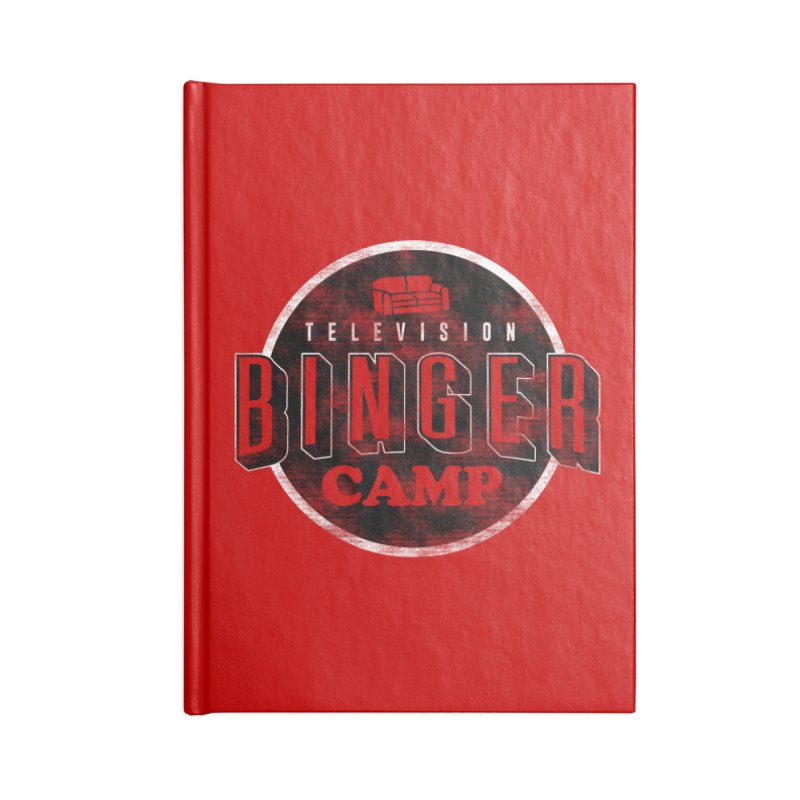 TV BINGER CAMP Accessories Notebook by Daniel Stevens's Artist Shop