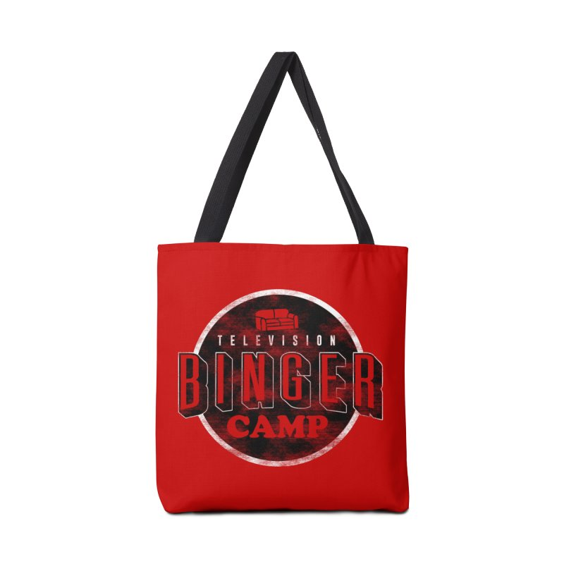 TV BINGER CAMP Accessories Tote Bag Bag by Daniel Stevens's Artist Shop
