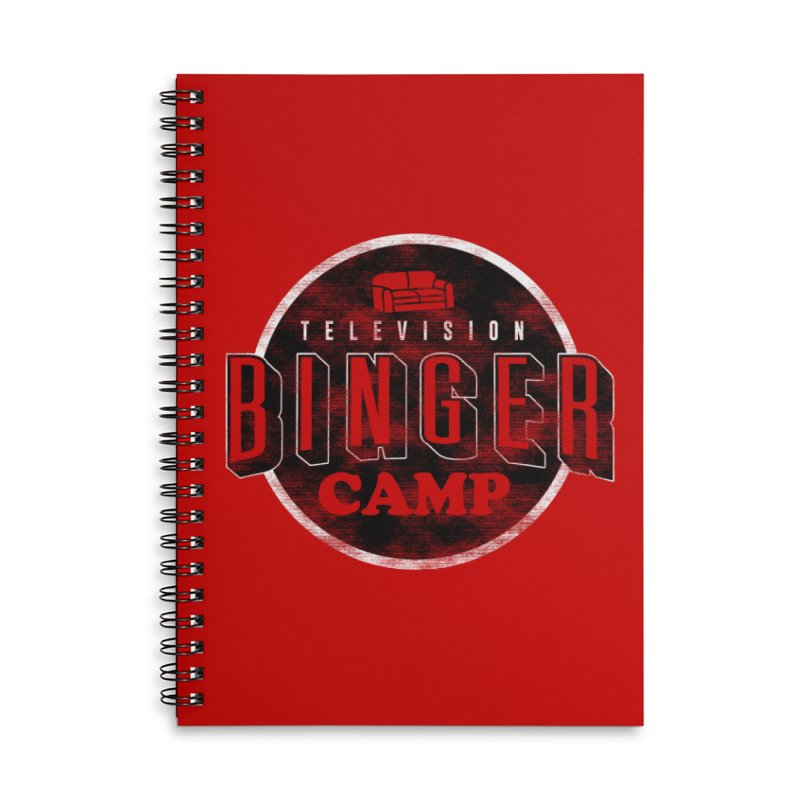 TV Binger Camp Accessories Notebook by Daniel Stevens's Artist Shop