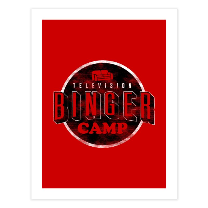 TV Binger Camp Home Fine Art Print by Daniel Stevens's Artist Shop