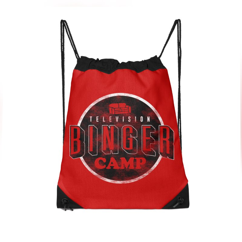 TV BINGER CAMP in Drawstring Bag by Daniel Stevens's Artist Shop