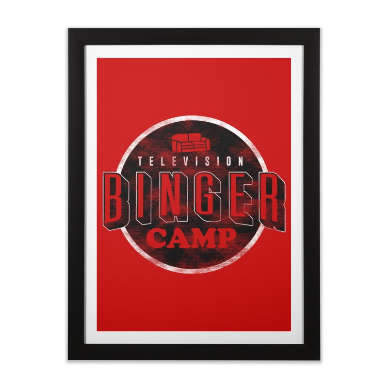 TV BINGER CAMP Home Framed Fine Art Print by danielstevens's Artist Shop