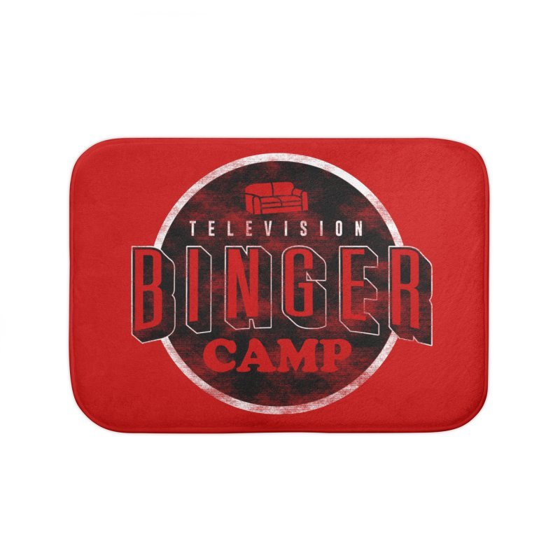 TV BINGER CAMP Home Bath Mat by Daniel Stevens's Artist Shop