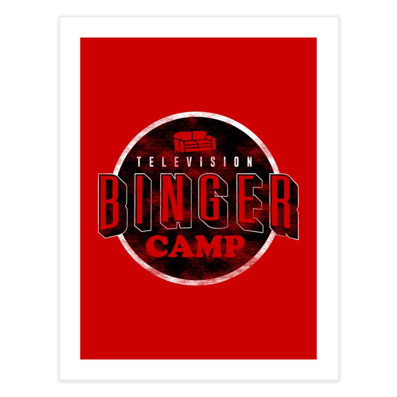 TV Binger Camp Home Fine Art Print by Daniel Stevens's Artist Shop