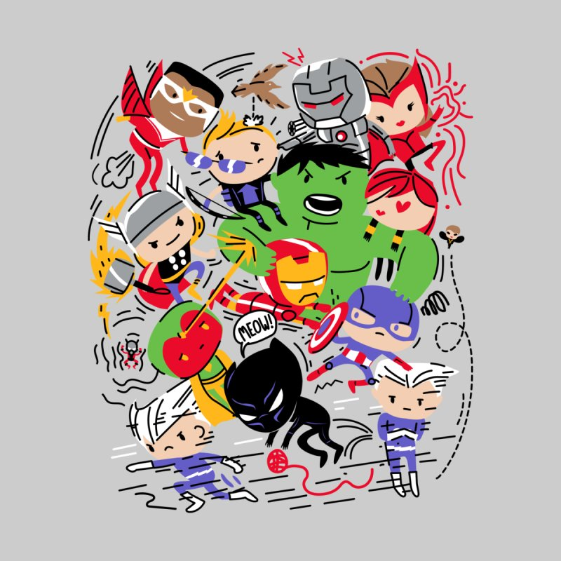 Kidvengers Men's V-Neck by Daniel Stevens's Artist Shop