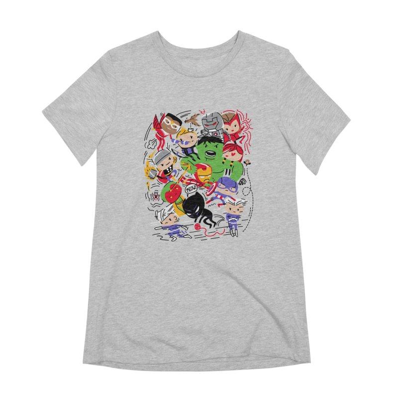 Kidvengers Women's Extra Soft T-Shirt by danielstevens's Artist Shop