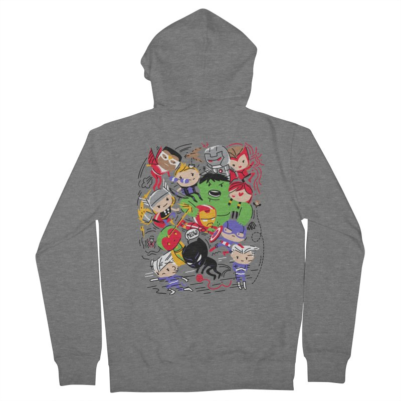Kidvengers Women's Zip-Up Hoody by Daniel Stevens's Artist Shop