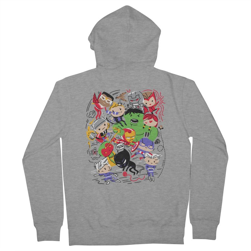 Kidvengers Men's French Terry Zip-Up Hoody by Daniel Stevens's Artist Shop