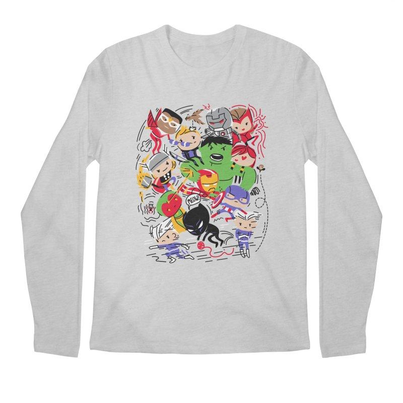 Kidvengers Men's Regular Longsleeve T-Shirt by danielstevens's Artist Shop