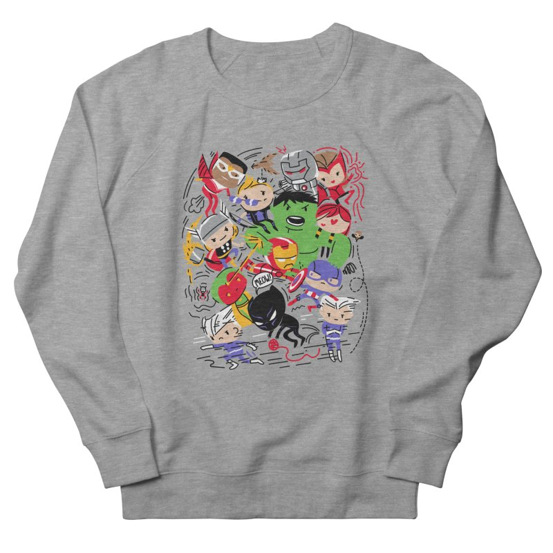 Kidvengers Men's French Terry Sweatshirt by Daniel Stevens's Artist Shop