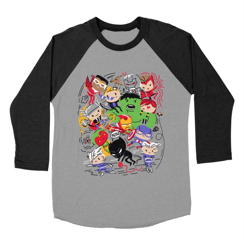 Kidvengers Women's Baseball Triblend Longsleeve T-Shirt by danielstevens's Artist Shop