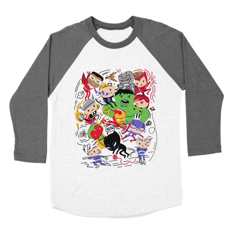 Kidvengers Men's Baseball Triblend Longsleeve T-Shirt by Daniel Stevens's Artist Shop