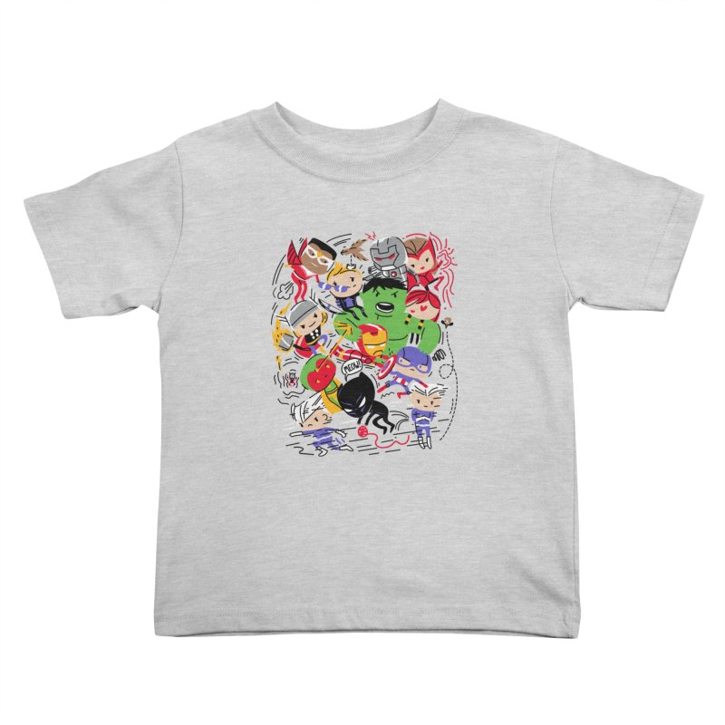 Kidvengers Kids Toddler T-Shirt by danielstevens's Artist Shop