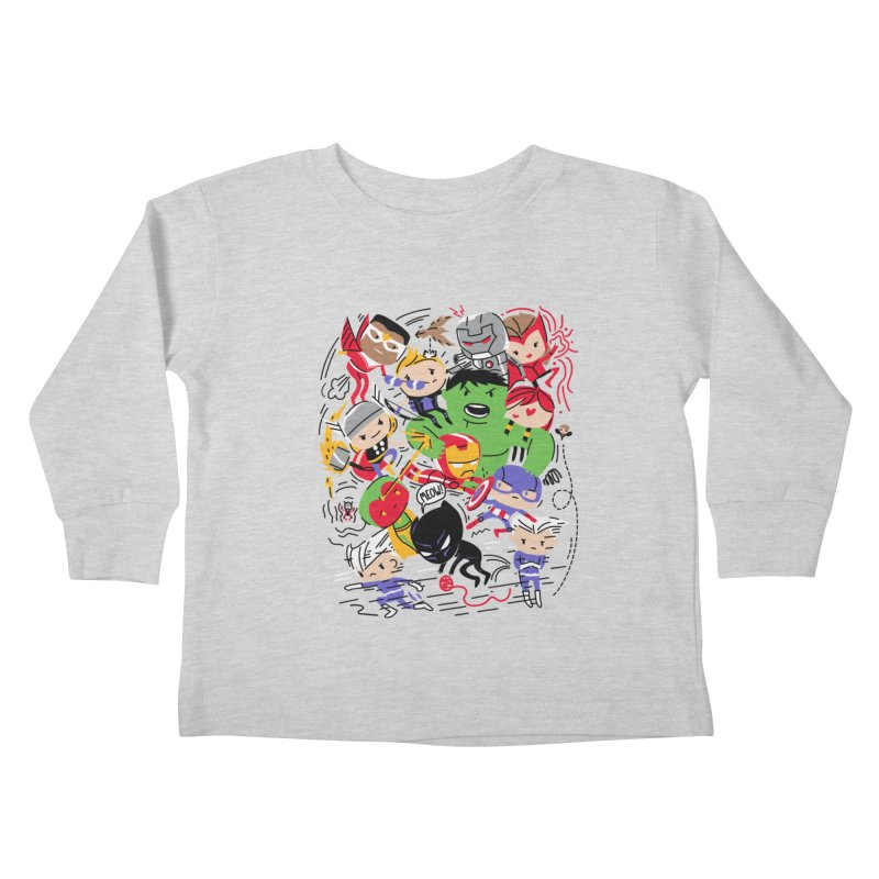 Kidvengers Kids Toddler Longsleeve T-Shirt by Daniel Stevens's Artist Shop