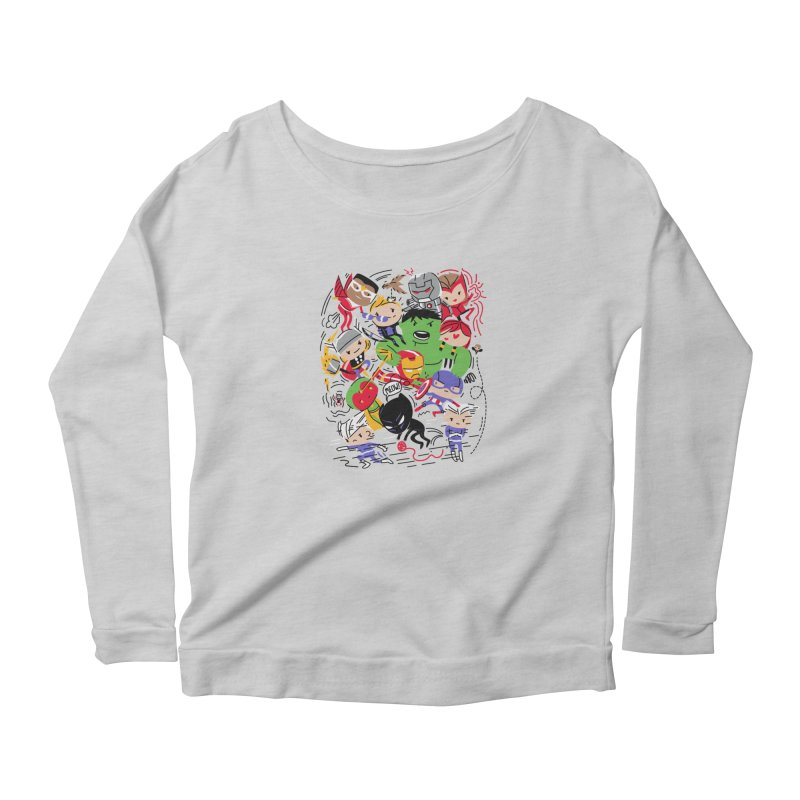 Kidvengers Women's Scoop Neck Longsleeve T-Shirt by danielstevens's Artist Shop
