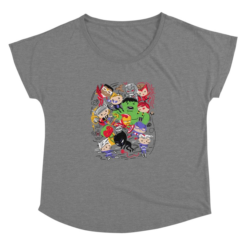 Kidvengers Women's Scoop Neck by Daniel Stevens's Artist Shop