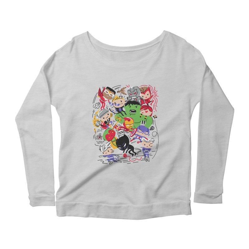 Kidvengers Women's Scoop Neck Longsleeve T-Shirt by danielstevens's Artist Shop