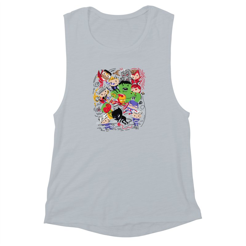 Kidvengers Women's Muscle Tank by danielstevens's Artist Shop