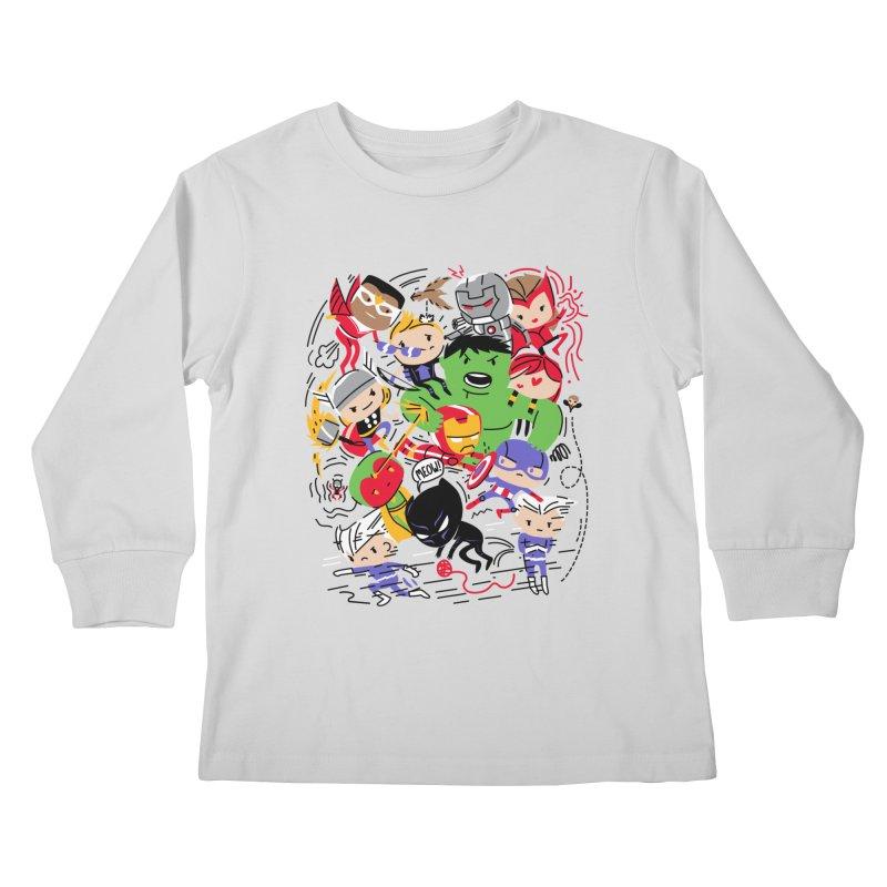 Kidvengers Kids Longsleeve T-Shirt by Daniel Stevens's Artist Shop
