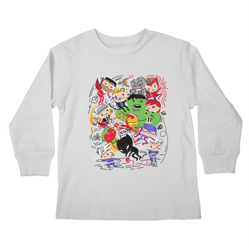 Kidvengers Kids Longsleeve T-Shirt by danielstevens's Artist Shop