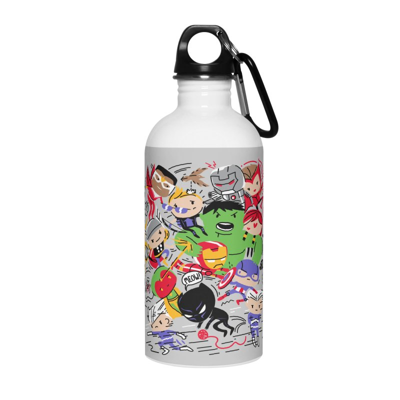 Kidvengers Accessories Water Bottle by Daniel Stevens's Artist Shop