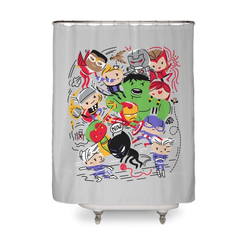 Kidvengers Home Shower Curtain by Daniel Stevens's Artist Shop