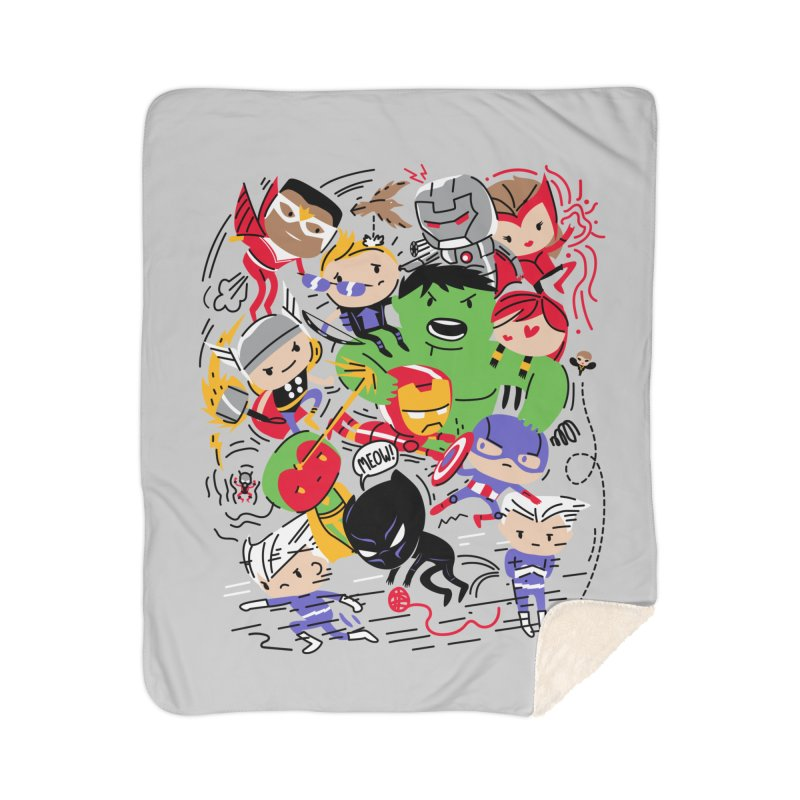 Kidvengers Home Sherpa Blanket Blanket by Daniel Stevens's Artist Shop