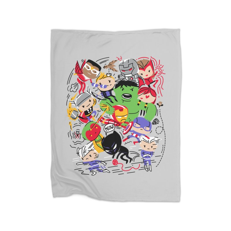 Kidvengers Home Fleece Blanket Blanket by Daniel Stevens's Artist Shop