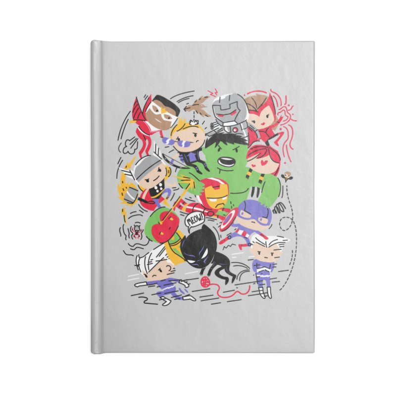 Kidvengers Accessories Lined Journal Notebook by Daniel Stevens's Artist Shop