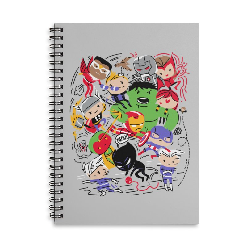Kidvengers Accessories Notebook by Daniel Stevens's Artist Shop
