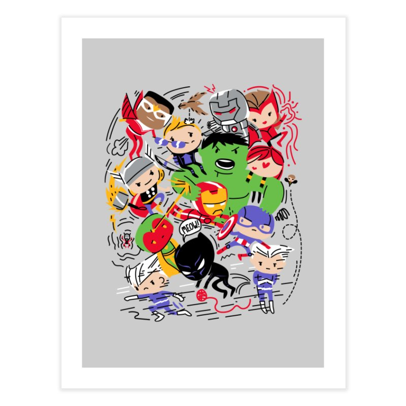Kidvengers Home Fine Art Print by danielstevens's Artist Shop