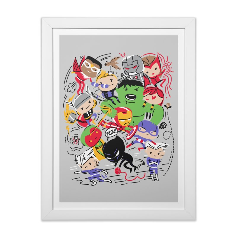 Kidvengers Home Framed Fine Art Print by Daniel Stevens's Artist Shop