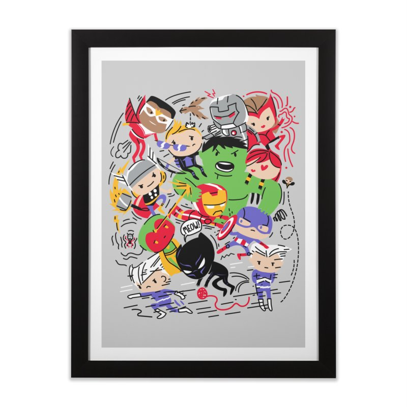 Kidvengers Home Framed Fine Art Print by danielstevens's Artist Shop