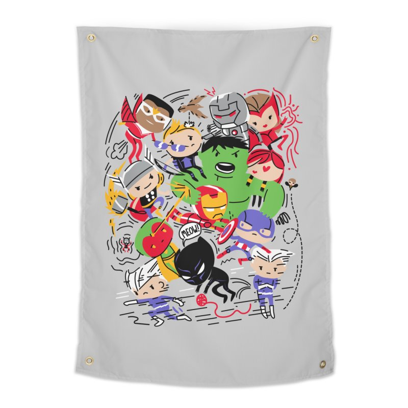 Kidvengers Home Tapestry by danielstevens's Artist Shop