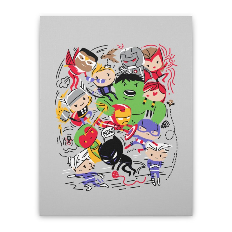 Kidvengers Home Stretched Canvas by Daniel Stevens's Artist Shop