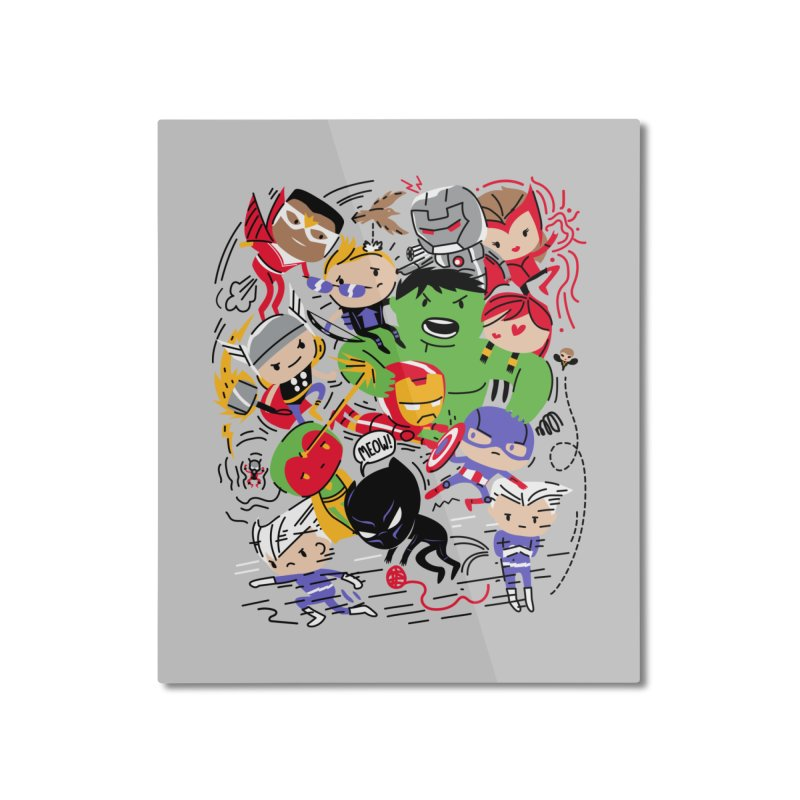 Kidvengers Home Mounted Aluminum Print by danielstevens's Artist Shop